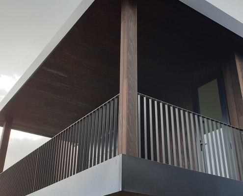 Image of house balcony up close