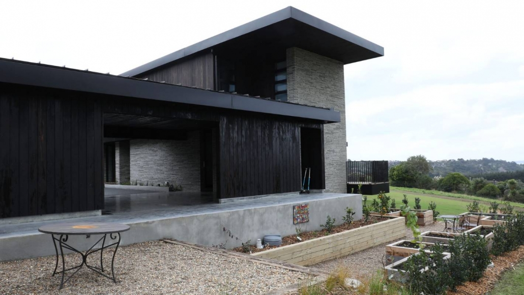 Photo of exterior of house that used the Shou Sugi Ban method on their cladding
