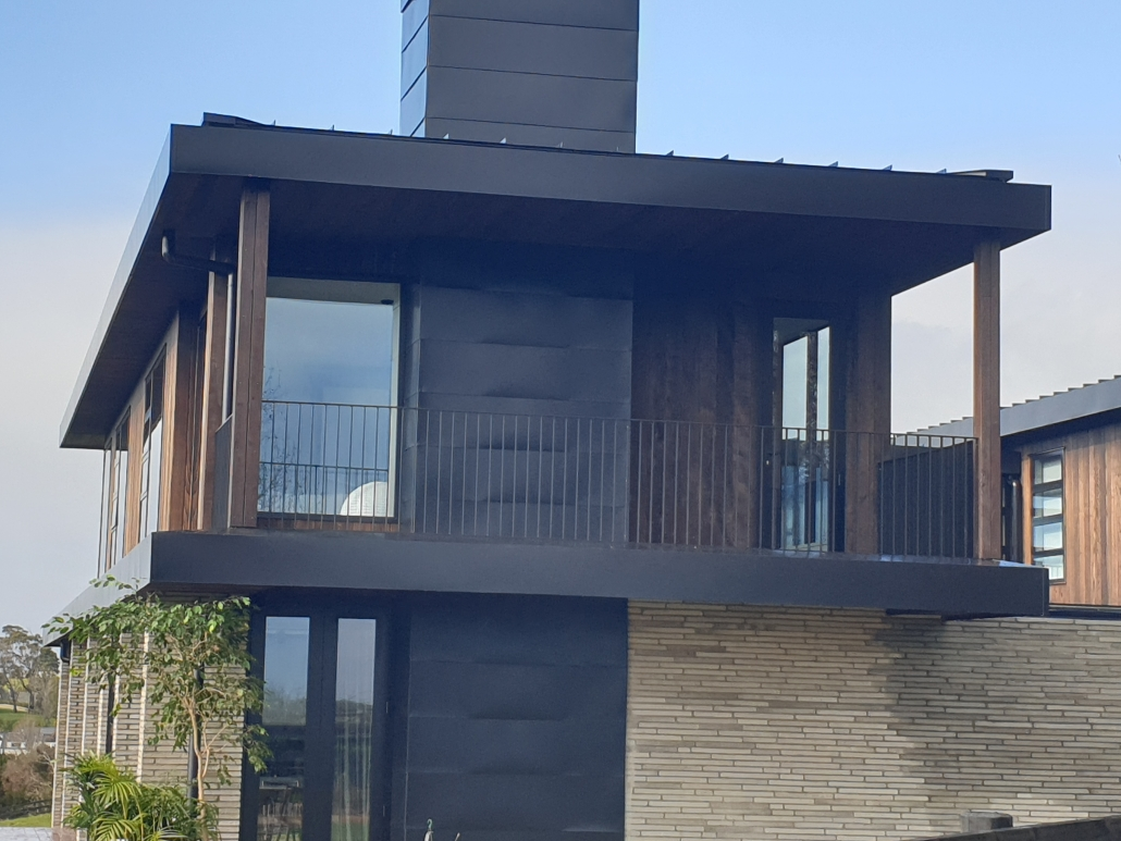 Photo of house that used the Shou Sugi Ban method on their cladding